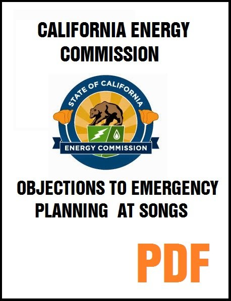 Letter from California Energy Commission Chair, Chair Robert Wiesenmiller objecting to draconian reductions in nuclear emergency response planning