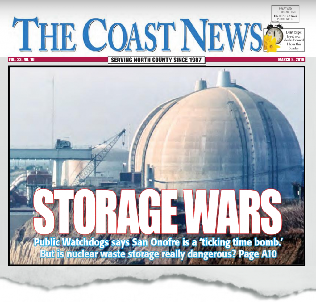 Dangerous spent nuclear fuel at San Onofre Nuclear Generating Station